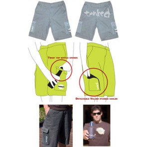 Beer Bottle Opening Shorts With Stubbie Holder Pocket