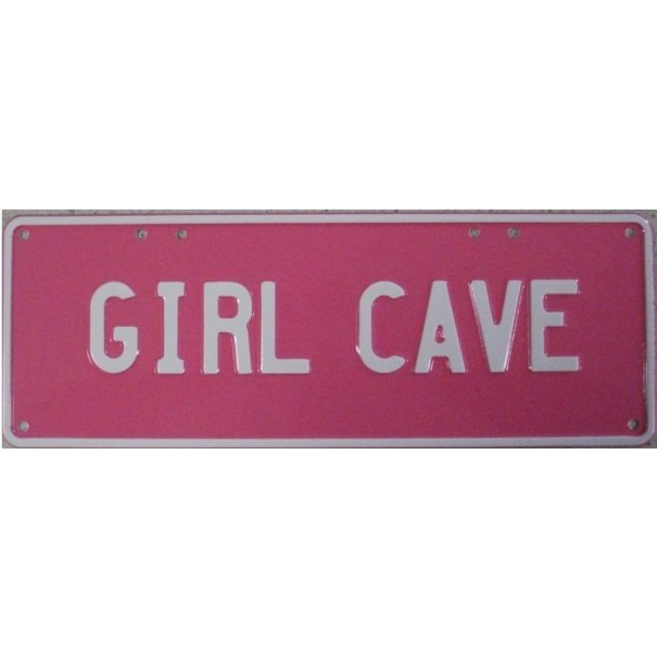 Girl Cave Novelty Number Plate