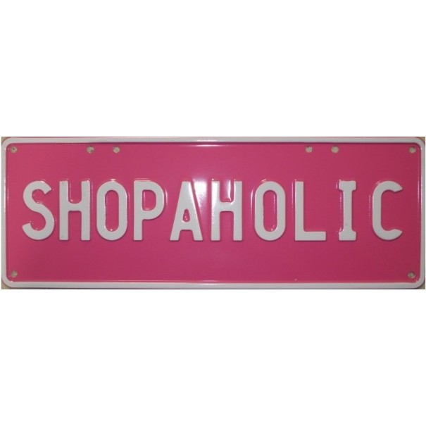 Shopaholic Novelty Number Plate