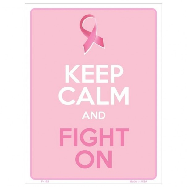 Keep Calm and Fight On Tin Sign
