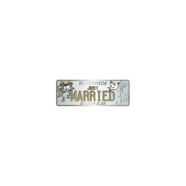 Newly Wed Just Married Number Plate