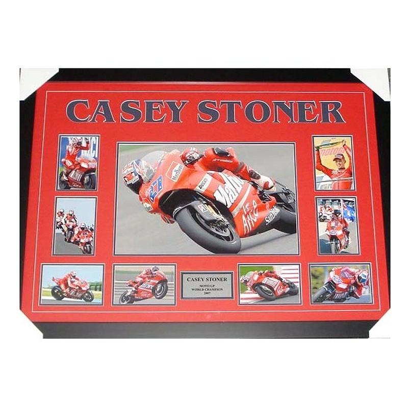 Casey Stoner Framed Collage