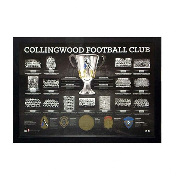Collingwood Football Club Historical Print Framed