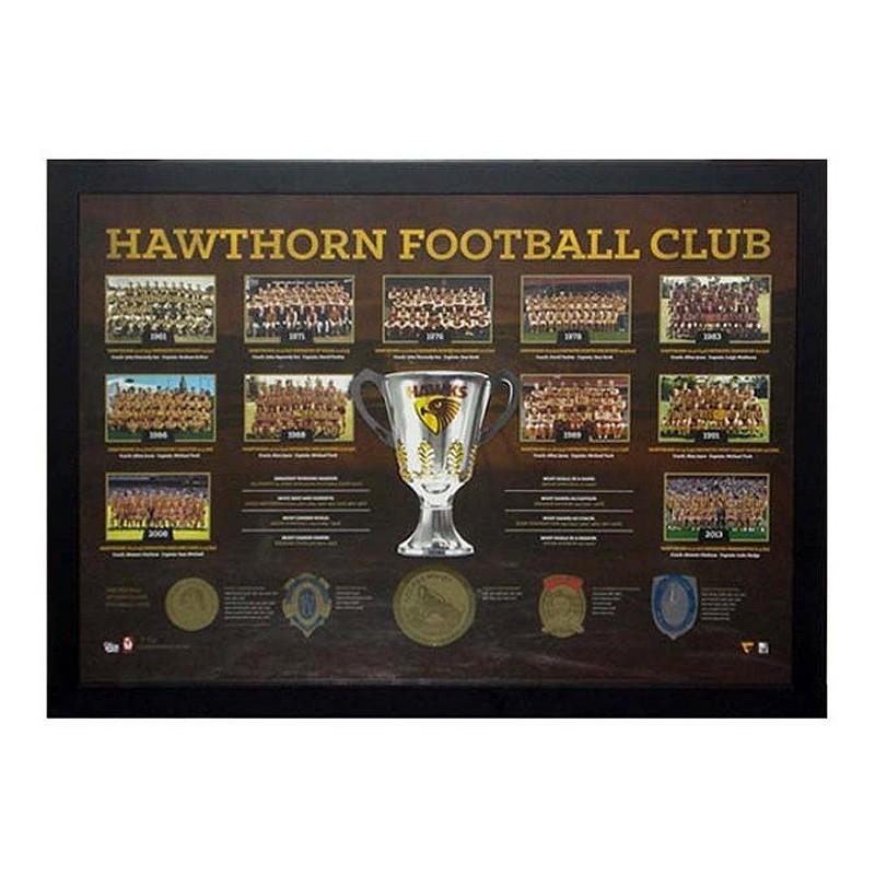 Hawthorn Football Club Historical Print Framed