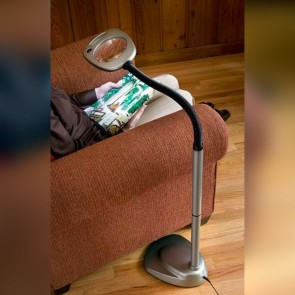 XtraFlex Magnifier with 12 LED Floor Lamp