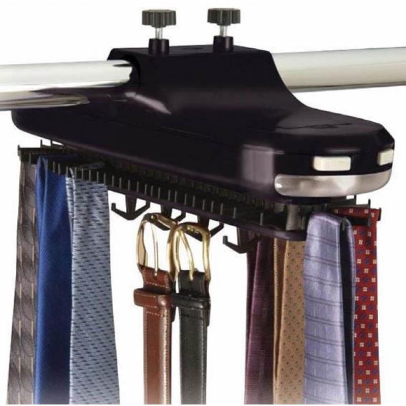 Revolving Electronic Tie Rack
