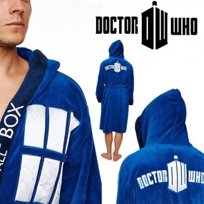 Doctor Who - TARDIS Fleece Robe with Hood