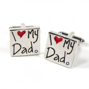 I Love My Dad Cufflinks with Box