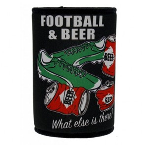 Football and Beer Stubby Holder