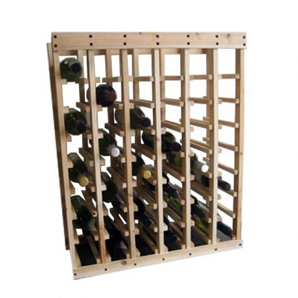 48 Bottle Pine Wood Stackable Wine Rack
