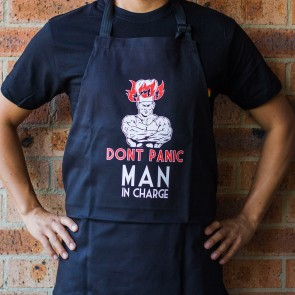 Don't Panic Man In Charge Apron