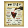 Wine From Around The World Retro Tin Sign