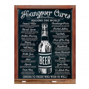 Hangover Cures Retro Tin Sign