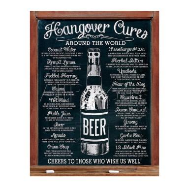 Hangover Cures Retro Tin Sign