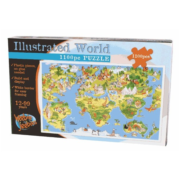 The Illustrated World Jigsaw Puzzle 1100 pieces