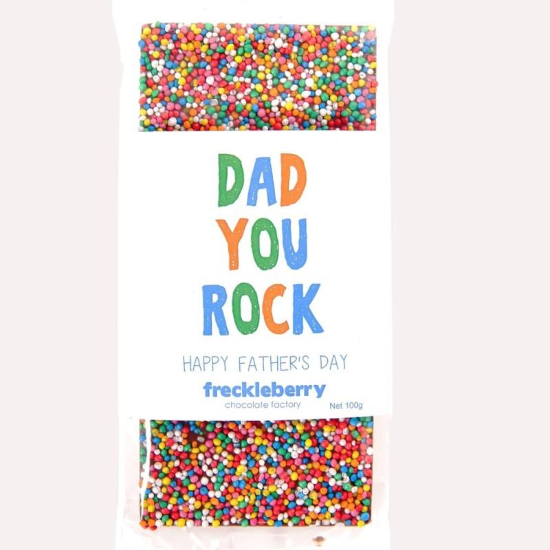 Dad You Rock Freckles Chocolate Bar