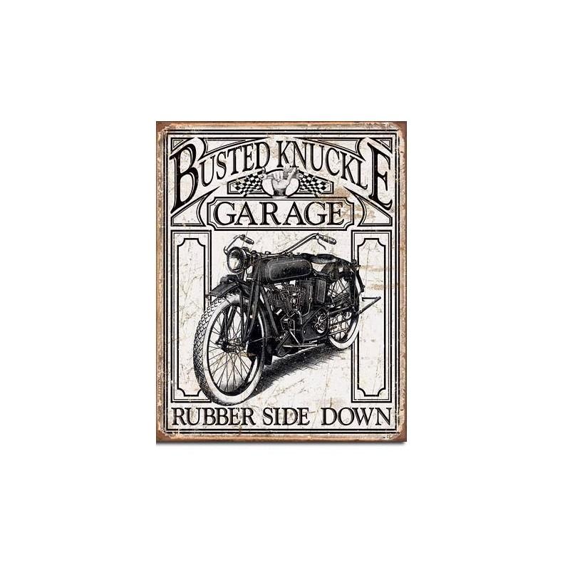 Busted Knuckle Garage Vintage Metal Sign