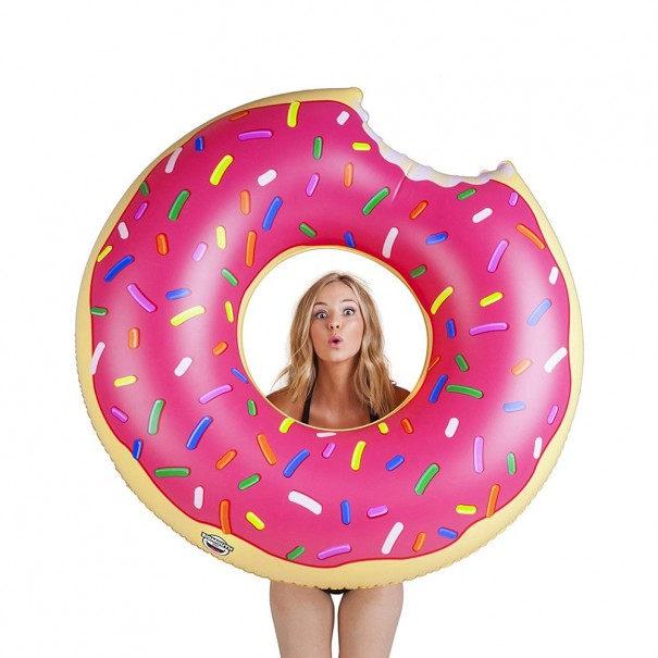 Giant Frosted Donut Pool Float