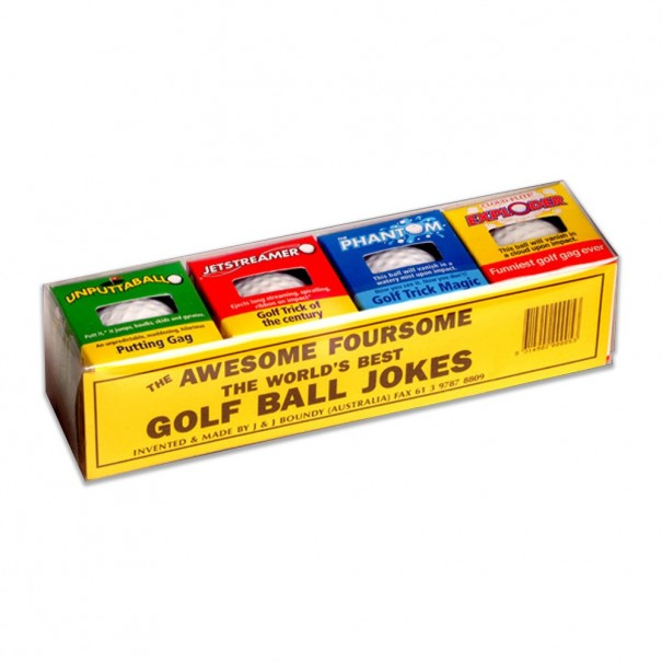 Awesome Foursome Trick Golf Balls - Joke for the Golfer
