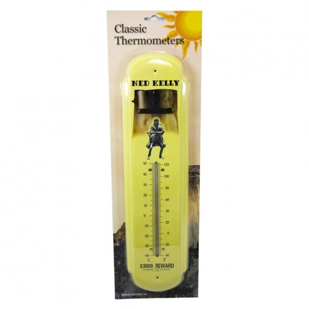 Ned Kelly Metal Wall Thermometer