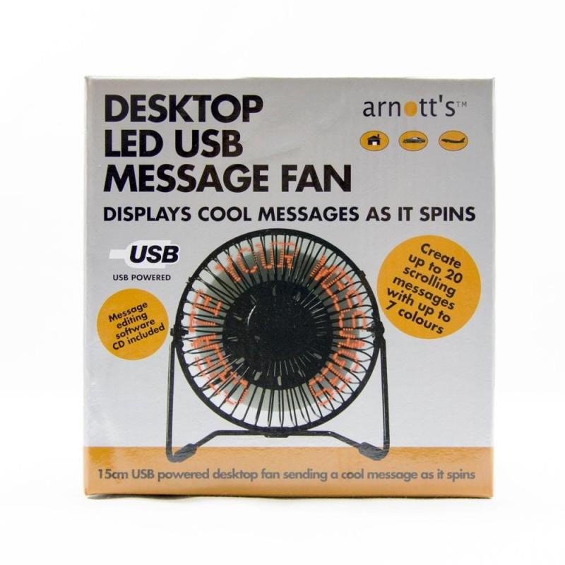 Desktop LED USB Message Fan