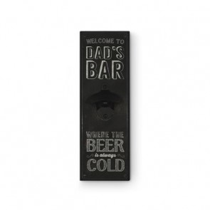 Dad's Bar Cold Beer Wooden Wall Mounted Bottle Opener