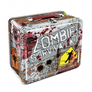 Zombie Survival Tin Carry All Fun Box or Lunch Box