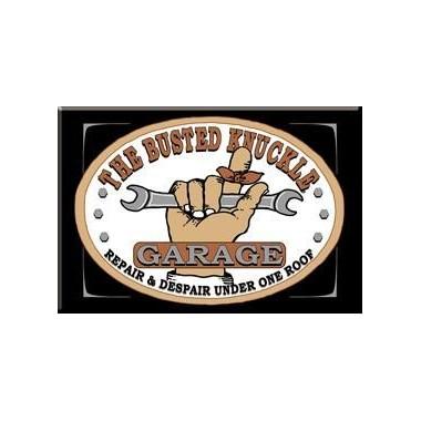 Busted Knuckle Garage Metal Sign