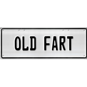 Old Fart Novelty Number Plate