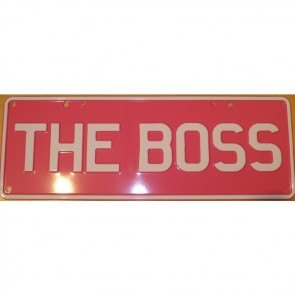 The Boss Novelty Number Plate