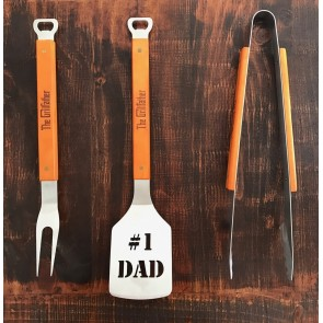 The Grillfather BBQ Branding and Utensils Set