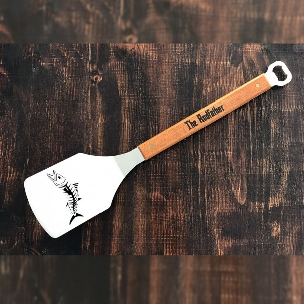The Rodfather Kingfish BBQ Branding Spatula and Bottle Opener