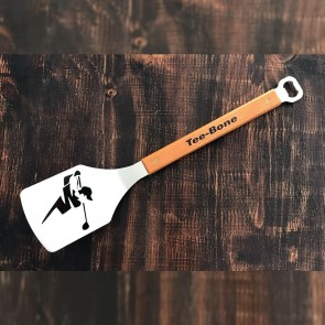 The Tee-Bone Golfer BBQ Branding Spatula and Bottle Opener