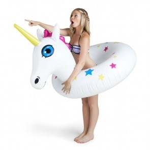 Giant Pink Unicorn Pool Float