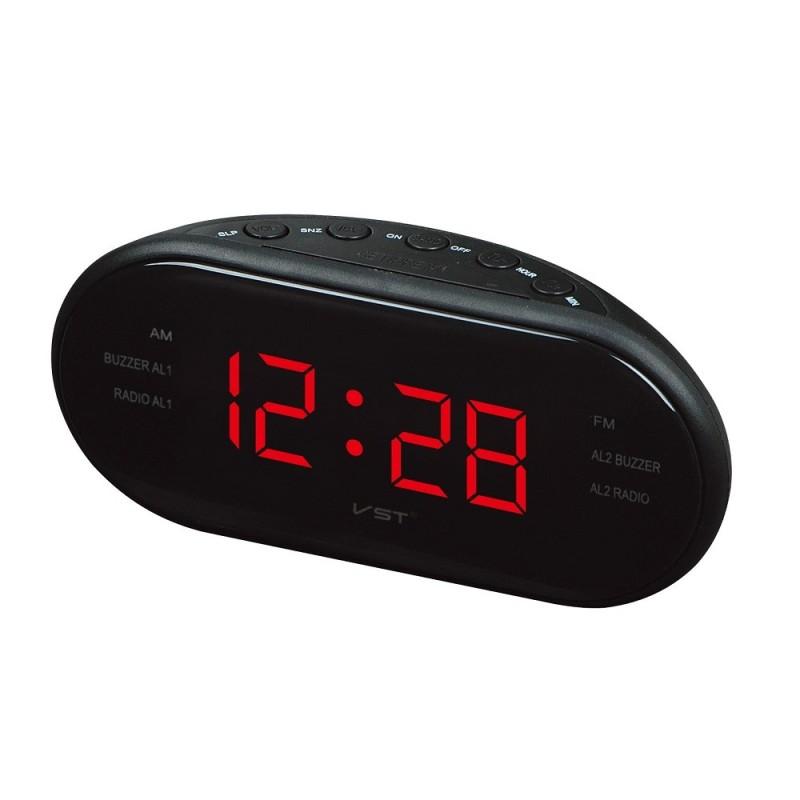 LED AM/FM Radio Alarm Clock