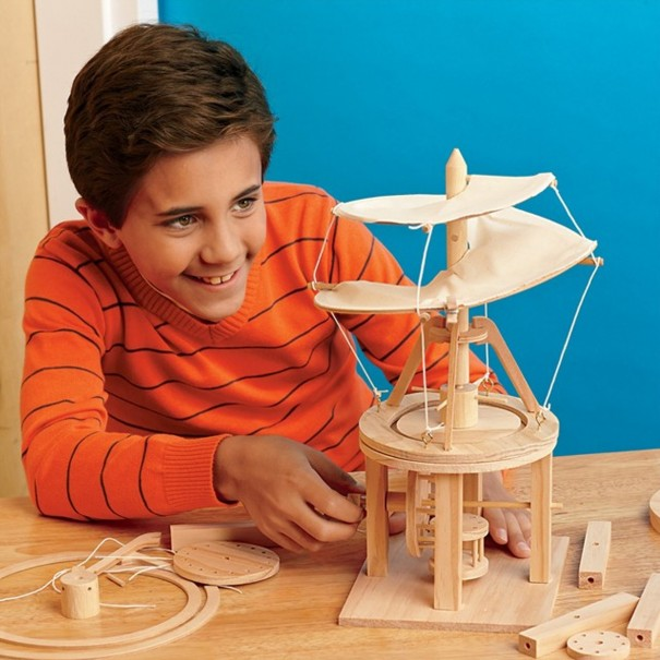 Da Vinci Helicopter Wooden Kit by Pathfinders