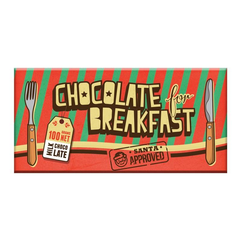 Chocolate for Breakfast Christmas Milk Chocolate Bar