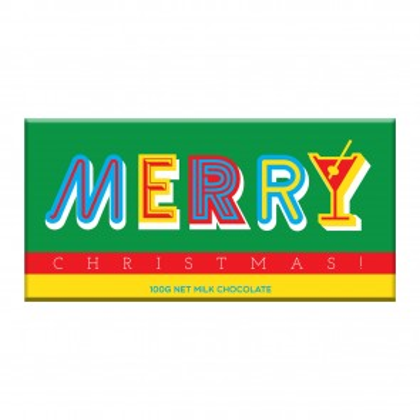 Merry Christmas Milk Chocolate Bar