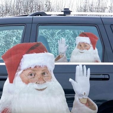 Ride with Santa Car Window Sticker