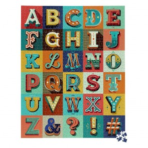 Alphabet 1000pc Jigsaw Puzzle by Ridleys