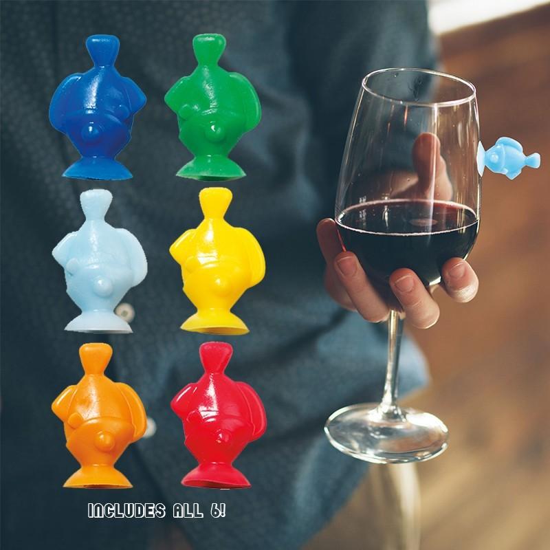Drink Like a Fish Wine Marker Set of 6