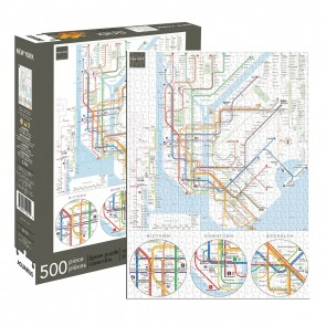 New York Subway 500pc Jigsaw Puzzle