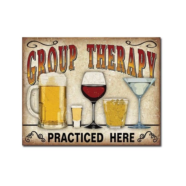 Group Therapy Retro Tin Sign