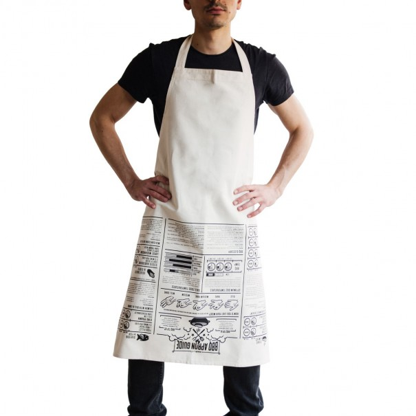 BBQ Cooking Guide Apron by John Caswell
