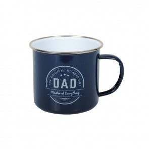 No.1 Dad Enamel Mug