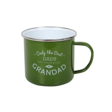 Best Grandad Enamel Mug