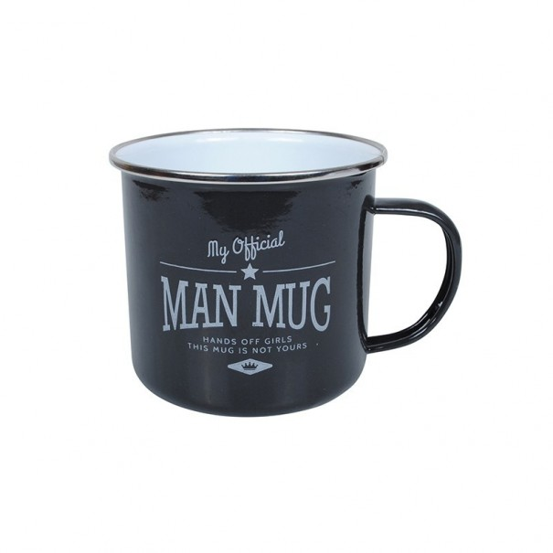 Man Mug Enamel Mug