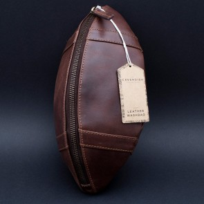 Genuine Leather Rugby Washbag