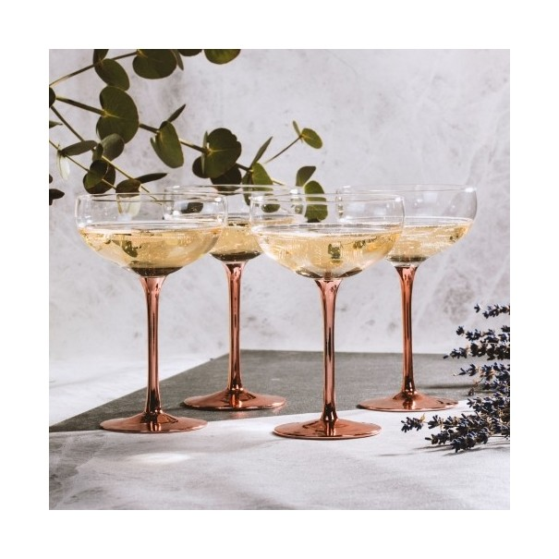 Vintage Champagne Saucers - Set of 4