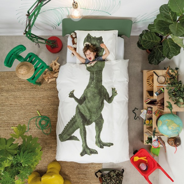 Quilt Cover Set Dinosaur by Snurk